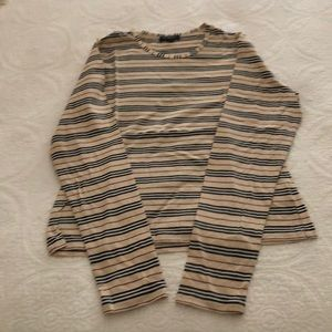 BURBERRY long sleeve top w stretch, nova stripes